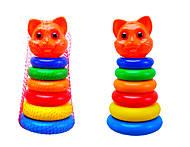 Пирамидка для детей «Кошка», 573в.2, детские игрушки