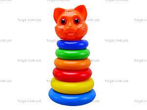 Пирамидка для детей «Кошка», 573в.2, цена