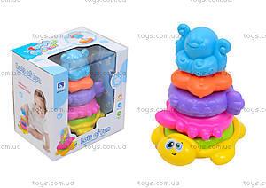 Пирамидка «Животные» для детей, HJ-8012