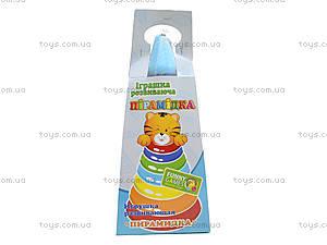 Развивающая игрушка «Пирамидка Люкс», 39104, игрушки