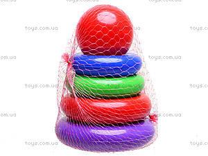Пирамидка детская «Колечки», 573в.6, фото