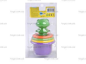 Пирамидка-стаканчики с брызгалкой для ванной, 57111, цена