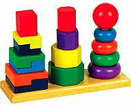 Пирамидки деревянные 3 в 1, Д037, фото