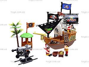 Игровой пиратский корабль с фигурками, 31232B, детские игрушки