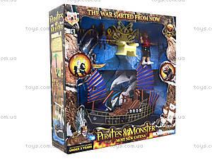 Игровой набор с фигурками «Пиратский корабль», 342-79, детские игрушки