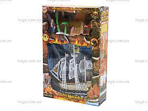 Детский пиратский корабль «Морское приключение», 344-11, детские игрушки