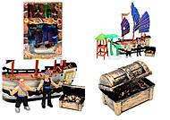 Детский пиратский корабль с игровыми фигурками, 344-12