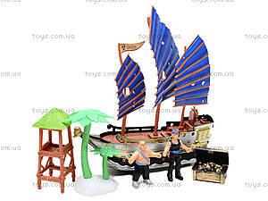 Детский пиратский корабль с игровыми фигурками, 344-12, фото
