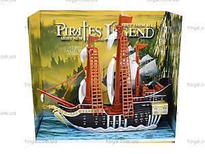 Игрушечный пиратский корабль «Легенды», 351-1, игрушки