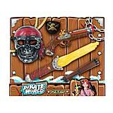 Пиратский набор: маска, мушкет, подзорная труба (свет, звук), B6638-3, детский