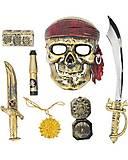 Пиратский набор (сабля, маска, флаг, сундук, компас) , ZP3554, магазин игрушек