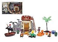 Игровой набор Пиратская крепость, с фигурками, 0809-24, детские игрушки