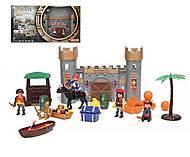 """Игровой набор """"Пираты"""" (башня, лодка, фигурки), 0809-18, іграшки"""