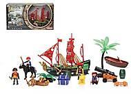 """Игровой набор """"Пираты"""" (корабль, лодка, фигурки), 0809-19, магазин игрушек"""