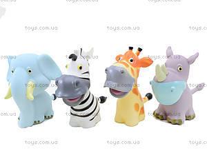 Пищалки «Дикие животные», 3388-4C, детские игрушки