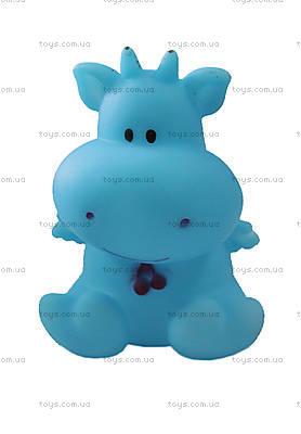 Пищалка для ванной «Синяя корова», R48бегемот