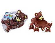 Мишка с медвежатами - игрушка пищалка, OSB9903