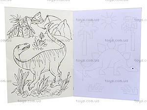 Пиши-раскрашивай «Прописи с динозаврами», С552004РУ, цена
