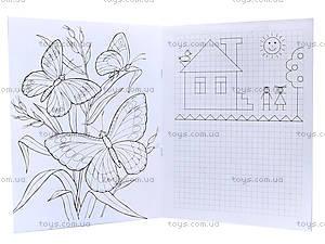 Пиши-раскрашивай «Прописи с бабочками», С552001РУ, фото