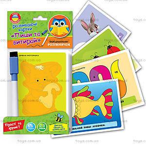 Развивающие карточки «Пиши и вытирай», VT1305-01, купить