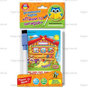 Развивающие карточки «Пиши и вытирай», VT1305-01