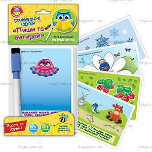Развивающие карточки «Пиши и вытирай», VT1305-01, магазин игрушек