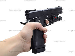 Пистолет стреляющий пульками, с лазерным прицелом, 001, купить