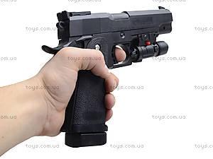 Пистолет стреляющий пульками, с лазерным прицелом, 001, отзывы