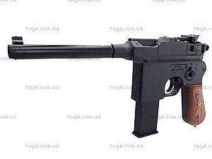 Пистолет с пульками, утяжеленный, 098A, игрушки
