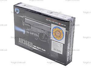 Игрушечный пистолет с пульками и подсветкой, AV366D, цена