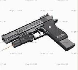 Пистолет детский с пульками, глушителем, K2011-E+