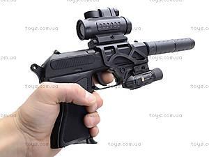 Утяжеленный пистолет с глушителем и прицелом, HK2023, фото