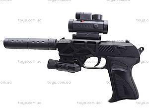 Утяжеленный пистолет с глушителем и прицелом, HK2023, магазин игрушек