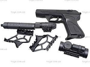Утяжеленный пистолет с пульками и глушителем, HK4-1, фото