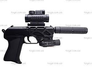 Утяжеленный пистолет с пульками и глушителем, HK4-1, игрушки