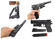 Пистолет с глушителем и пульками, эффекты, K2011-B+