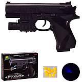 Пистолет игровой с лазером и пульками и светом 729S, 729S, фото