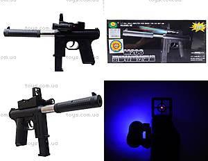 Игрушечный пистолет с пульками и глушителем, M206
