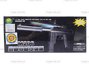 Игрушечный пистолет с пульками и глушителем, M206, toys.com.ua