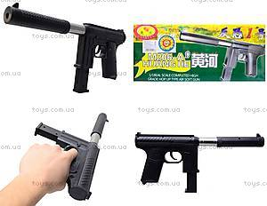 Детский пистолет с пульками и глушителем, M206A
