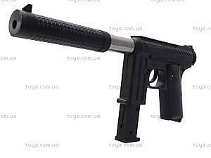 Детский пистолет с пульками и глушителем, M206A, игрушки