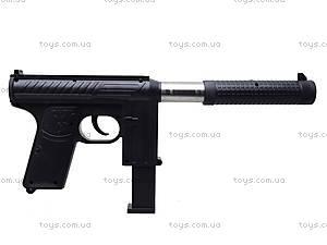 Детский пистолет с пульками и глушителем, M206A, детские игрушки