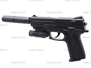 Пистолет утяжеленный с глушителем и светом, M4013D, купить