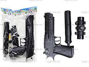 Игрушечный пистолет на пульках с глушителем, M93-3+
