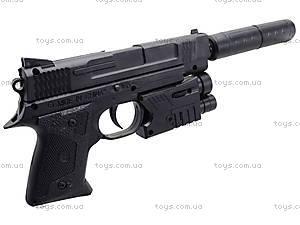 Игрушечный пистолет с пульками лазером и глушителем, MP45-86, купить