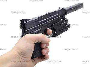 Игрушечный пистолет с пульками лазером и глушителем, MP45-86, отзывы