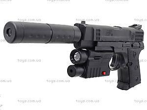 Игрушечный пистолет с пульками лазером и глушителем, MP45-86, цена