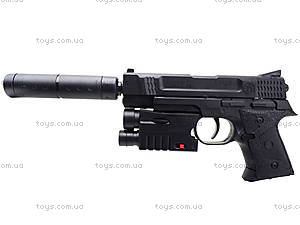 Игрушечный пистолет с пульками лазером и глушителем, MP45-86, игрушки