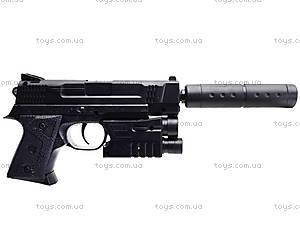 Игрушечный пистолет с пульками лазером и глушителем, MP45-86, детские игрушки