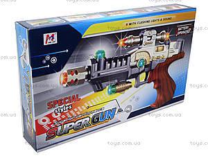 Музыкальный пистолет Super Gun, 3305, детские игрушки